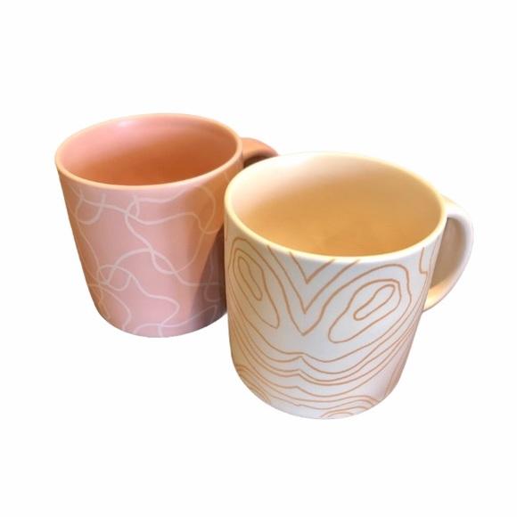 Set of Whitney Kerney Ceramic Mugs